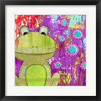 Framed Whimsical Frog