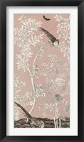 Framed Blush Chinoiserie II