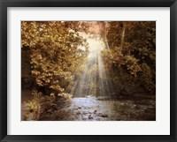 Framed Autumn River Light