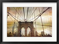 Framed Brooklyn Bridge Sunset