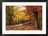 Framed Autumn Footbridge