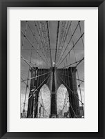 Framed Brooklyn Bridge Tones