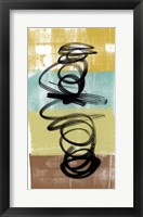 Framed Dancing Swirl I