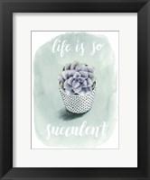 Framed Life is Succulent I