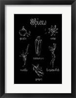 Spice Varieties Framed Print