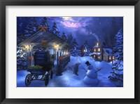 Framed Snowman Crossing