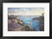 Framed Afternoon Light Sydney Harbour