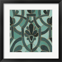 Framed Turquoise Mosaic III
