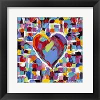 Mosaic Heart II Framed Print
