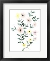 Trellis Flowers II Framed Print