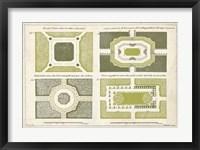 Framed European Garden Design I