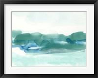 Framed Teal Coast I