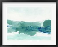 Framed Teal Coast II