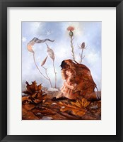 Framed Thumbelina In Leaves