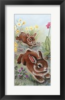 Framed Running Bunnies