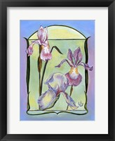 Art Deco Irises Framed Print