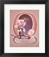 Framed Art Deco Magnolias