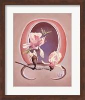 Framed Art Deco Magnolias