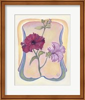 Framed Art Deco Petunias