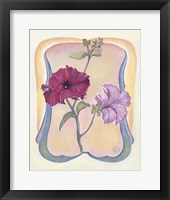 Framed Art Deco Petunias
