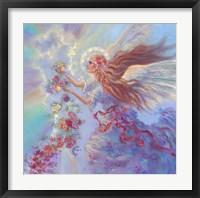 Framed Angel With Flower Garland