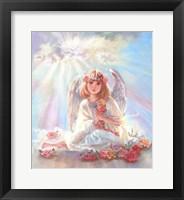 Framed Girl Angel On Cloud