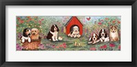 Framed Puppies And Doghouse Border