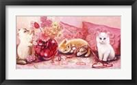 Framed Three Kittens