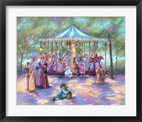 Framed Blue Carousel