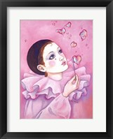 Framed Mime With Heart Bubbles