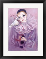Framed Pierrot And Dove