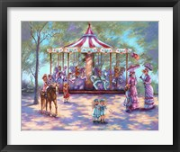 Framed Red Carousel