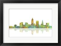 Framed Cleveland Ohio Skyline 1
