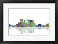 Framed El Paso Texas Skyline 1