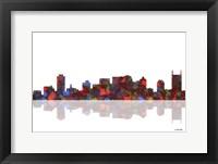 Framed Nashville Tennessee Skyline 1