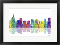 Framed Orlando Florida Skyline 1