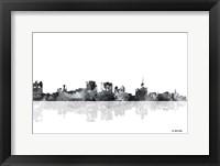 Framed Buffalo New York Skyline BG 1