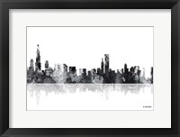 Framed Chicago Illinois Skyline BG 1