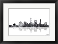 Framed Cleveland Ohio Skyline BG 1