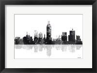 Framed Indianapolis Indiana Skyline BG 1