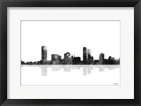 Framed Milwaukee Wisconsin Skyline BG 1