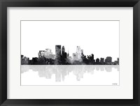 Framed Minneapolis Minnesota Skyline BG 1