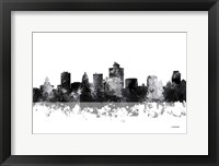 Framed Salt Lake City Utah Skyline BG 1