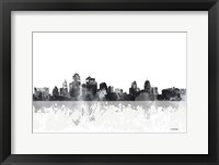 Framed Kansas City Missouri Skyline
