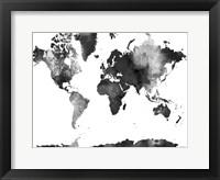 Framed World Map BG 1