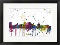 Framed Buffalo New York Skyline Multi Colored 1
