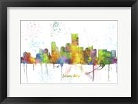 Framed Jersey City New Jersey Skyline Multi Colored 1