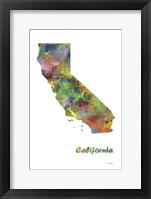 Framed California State Map 1