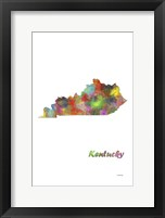Framed Kentucky State Map 1