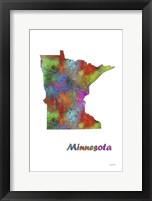 Framed Minnesota State Map 1